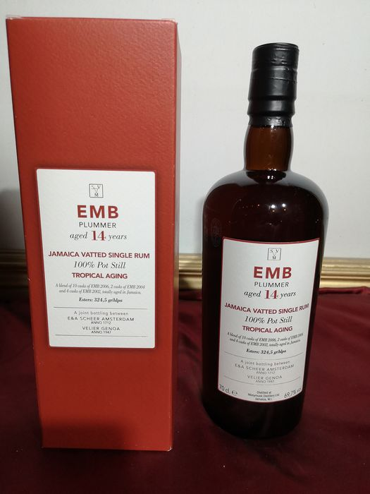 Monymusk 14 years old Velier - EMB Plummer Tropical Aging - 70 cl