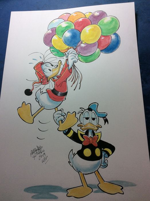 """Donald Duck - Original drawing - """"Paperoga ascendente"""" - Loose page - Unpublished - (2019)"""