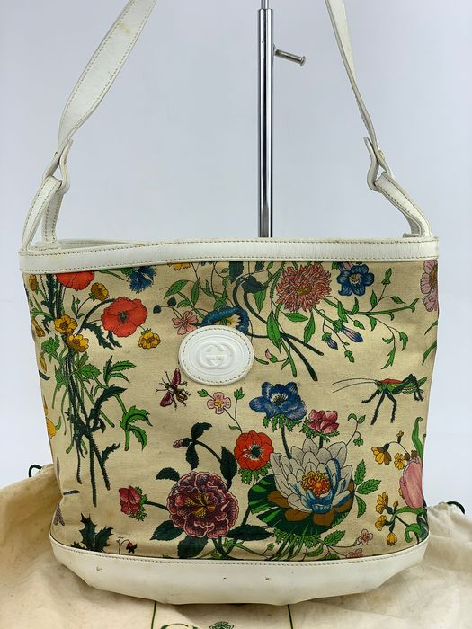 Gucci - NO RP-OLD GUCCI-Flower Pattern  Schultertasche
