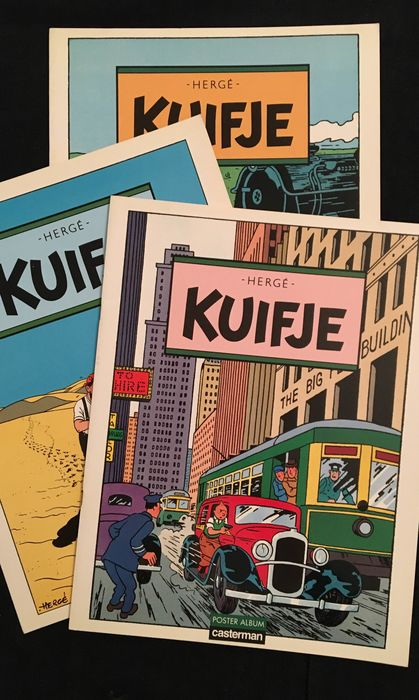 Kuifje - 3x Kuifje Poster album  - Softcover - (1986)