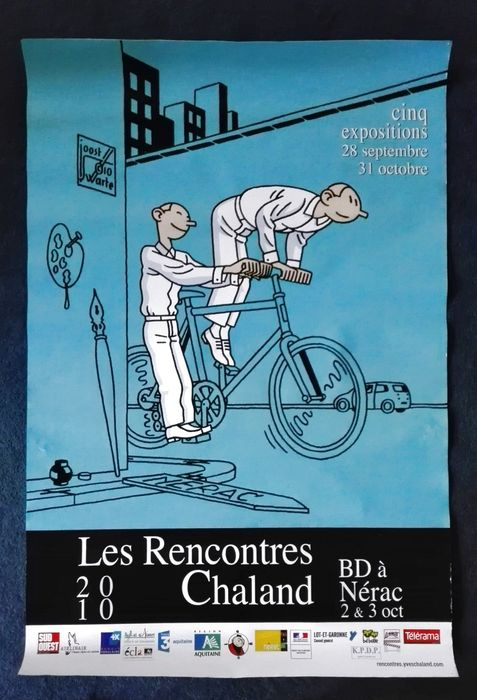 Joost Swarte - grote poster  - Les Rencontres Chaland 2010 + catalogus - (2010)