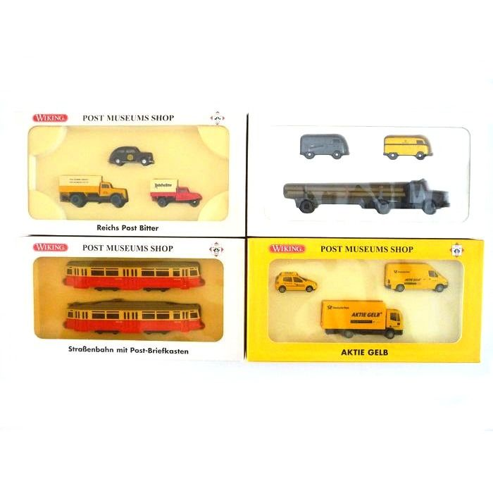 Wiking H0 - 66-51/81-11/82-11/82-12 - Scenery - 4 sets van de Post Museums Shop