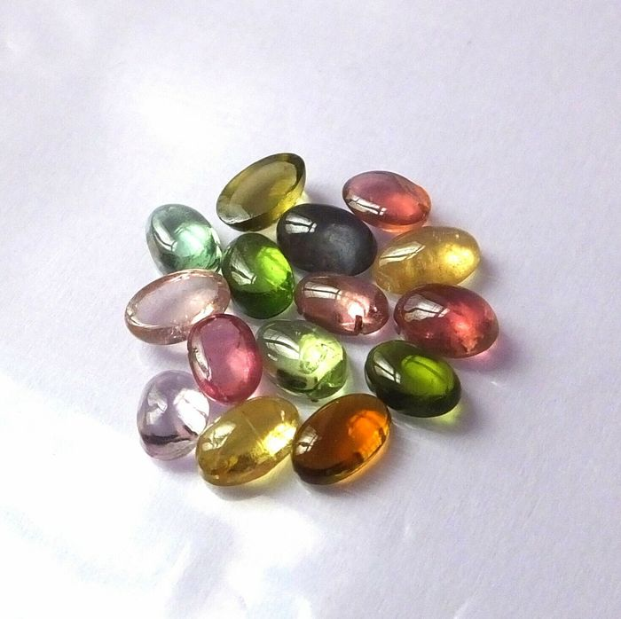 15 pcs mixed colors Tourmaline - 6.95 ct