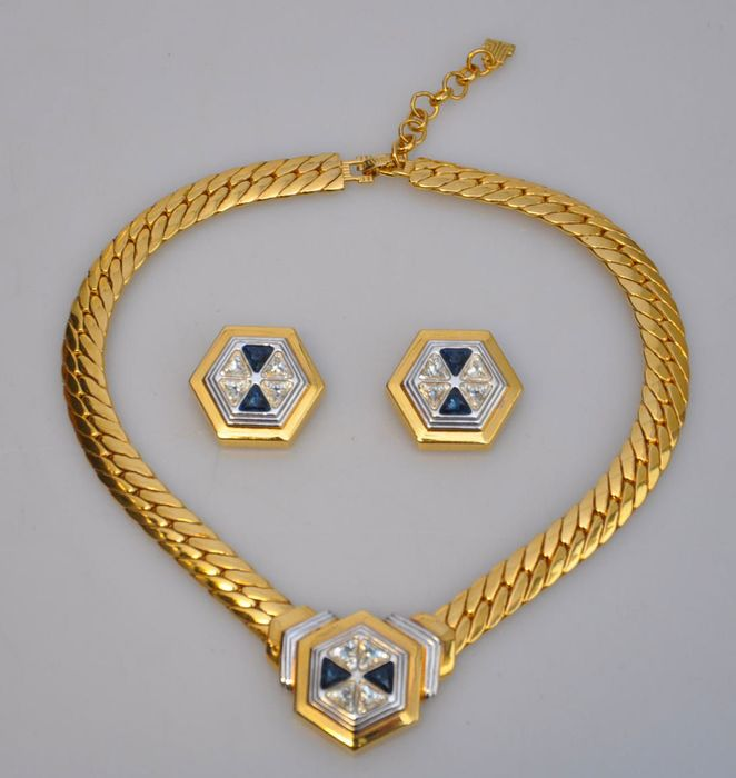 Gold-plated - Lanvin necklace with ear clips