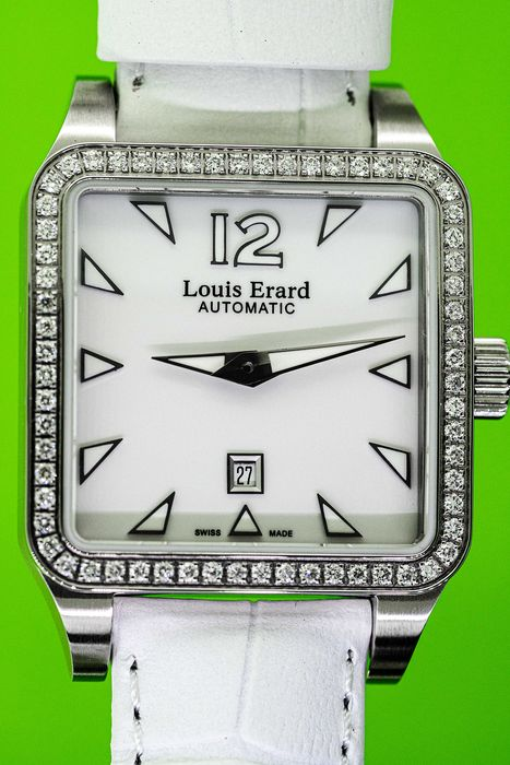 "Louis Erard - 64 Diamonds for 0.62 Carat Automatic Emotion Collection White Mother of Pearl Swiss Made  - ""NO RESERVE PRICE"" 20700SE14.BDC61 - Mujer - BRAND NEW"