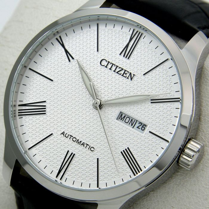 "Citizen - Automatic ""White Dial"" Leather band - - ""NO RESERVE PRICE"" - - Men - 2019"