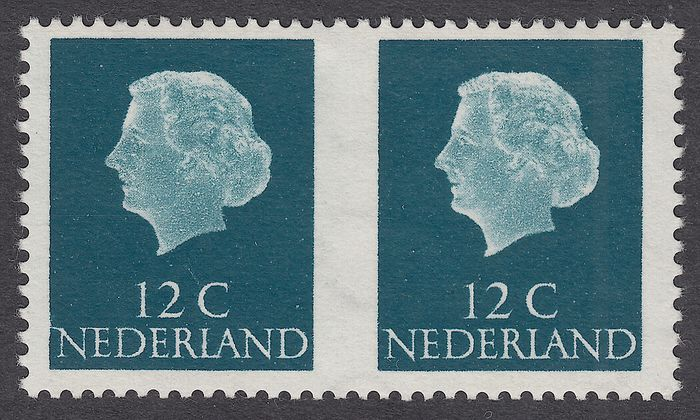 Países Bajos 1969 - Queen Juliana, imperforate in the middle - NVPH C44
