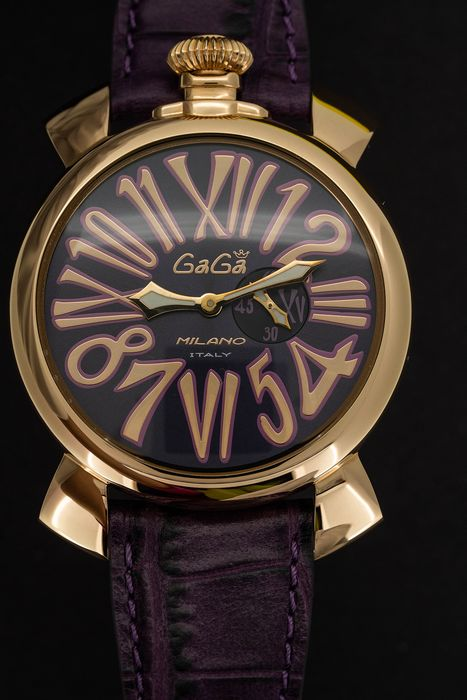 "GaGà Milano - Watch Slim 46MM Rose Gold Purple - 5085.03 ""NO RESERVE PRICE"" - Unisex - Brand New"