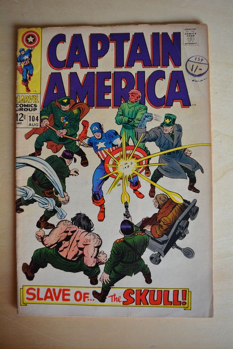 Captain America #104 - Slave of the Skll! - First edition - (1968)