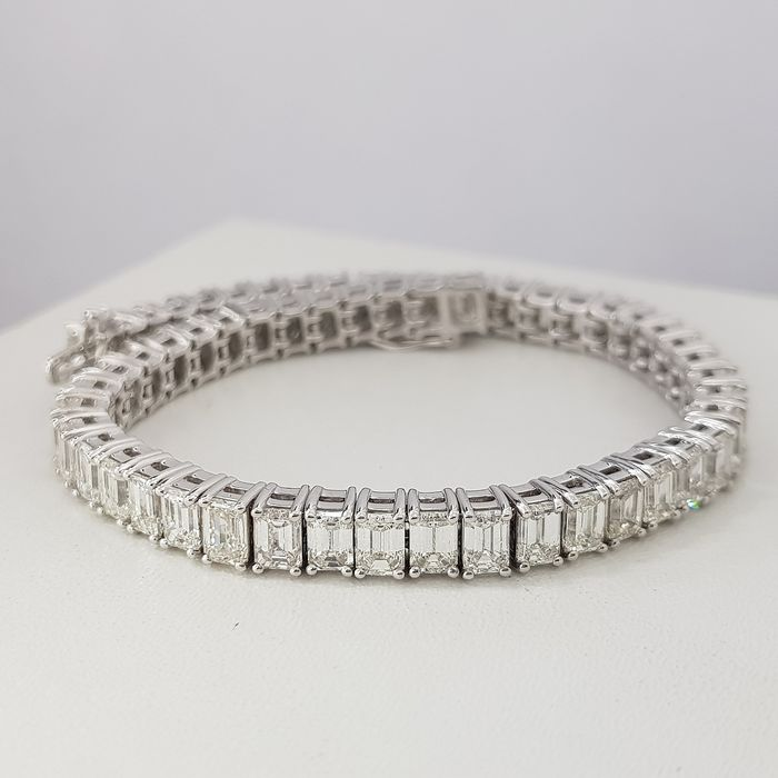 14 kt. White gold - Bracelet - 15.00 ct Diamond - Diamonds