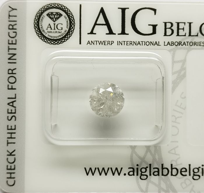1 pcs Diamant - 1.45 ct - Briljant - H - P3
