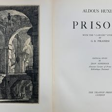 Aldous Huxley  - Prisons. Illustrated by 18 etchings by Piranesi - 1949