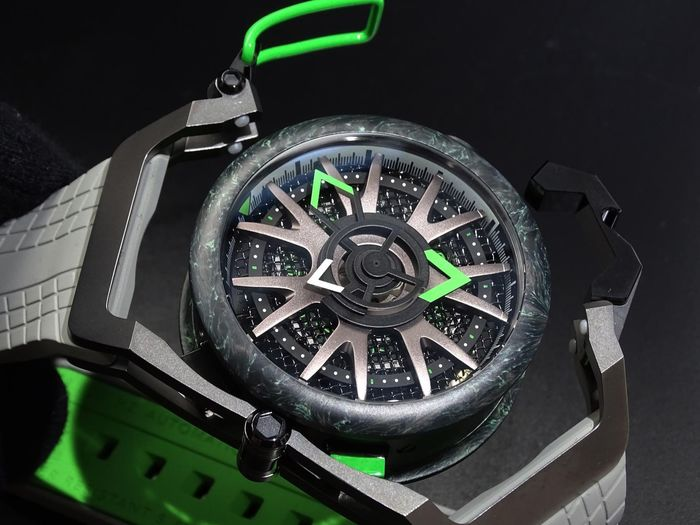 Mazzucato - RIM Reversible Monza Carbon Fiber Green Automatic and  Chronograph  - LIMITED EDITION - Heren - brand new
