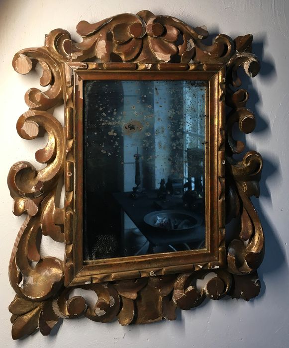 Wall mirror (1) - wood glass - Late 19th century