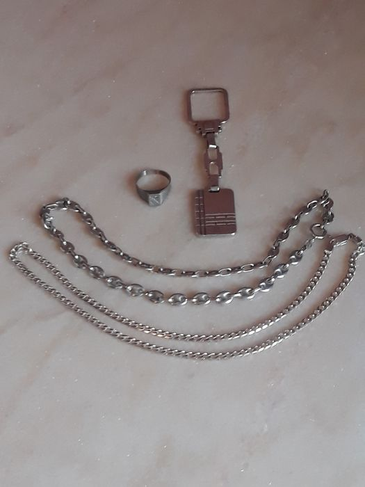 Mixed Silver - Necklace, Ring, keychain