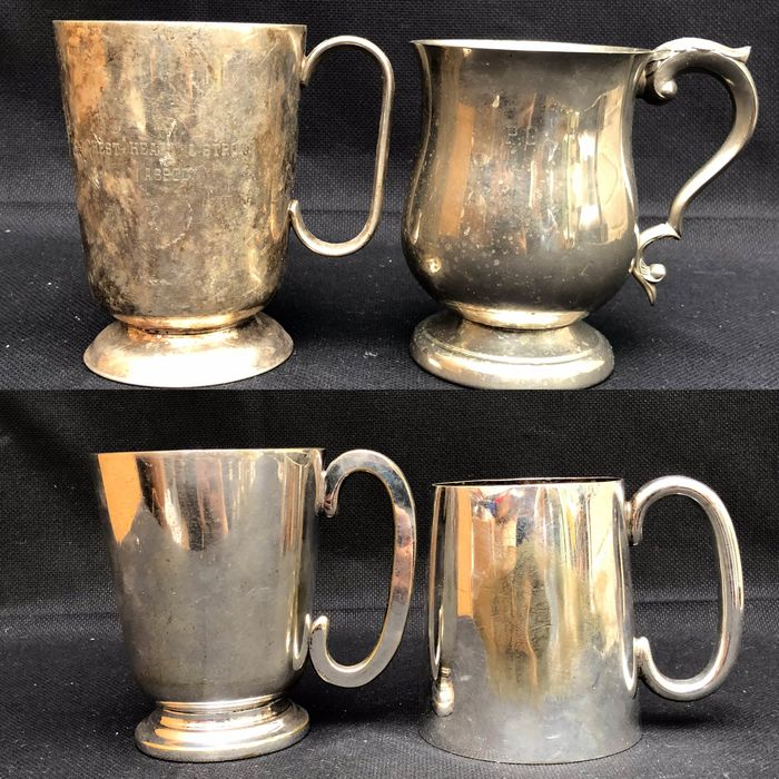 Mugs collection - Silverplate, EP on Copper