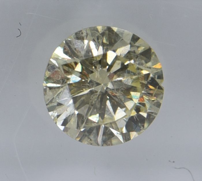 1 pcs Diamond - 0.63 ct - Round - fancy yellow - SI2, No Reserve Price!