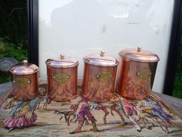 beautiful copper herb pots - Copper