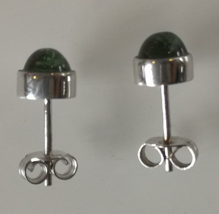 18 kt. White gold - Earrings Tourmaline