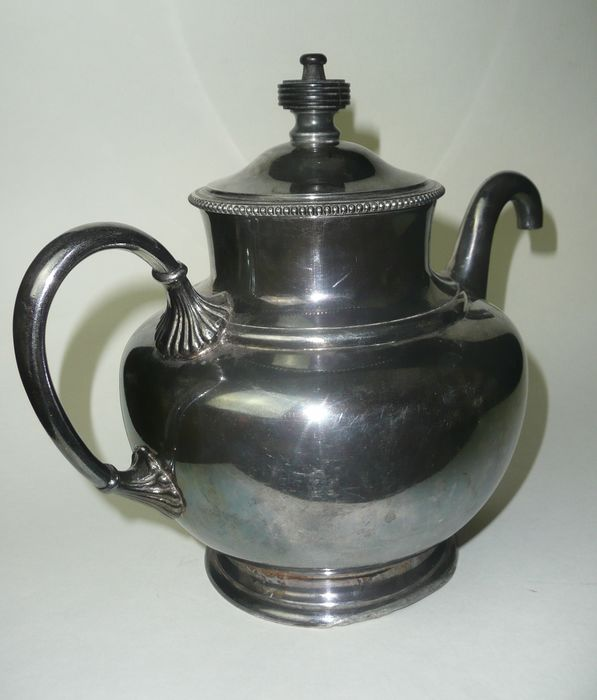 Royles - James Dixon & Sons, Sheffield, 1886 - Old vintage Royles patent self-pouring teapot (1) - Victorian Style - Silverplate