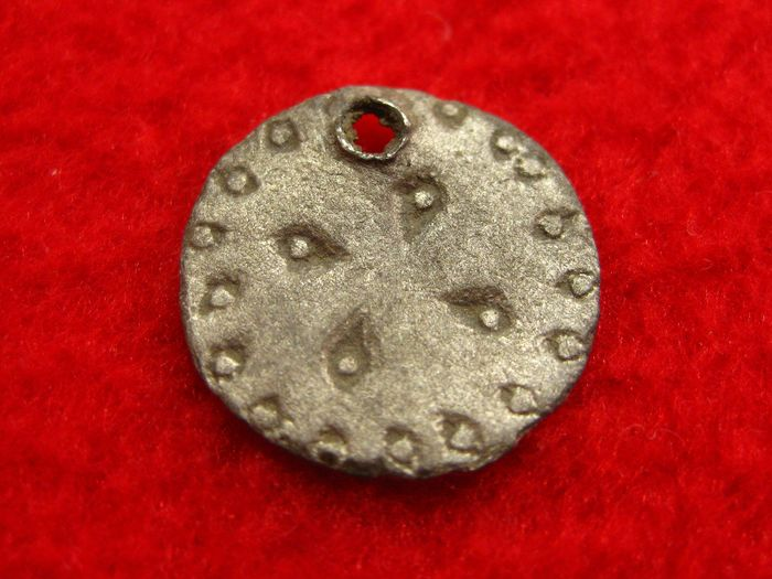 Early medieval Silver  Viking Age Sun Pendant / Amulet