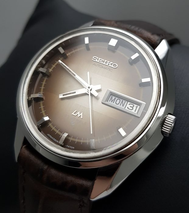 Seiko - 'NO RESERVE PRICE' Lord Matic  Automatic Brown RARE Vintage Men - 5606-7280 - Homme - 1970-1979