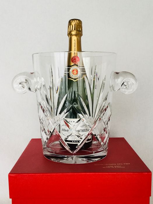 FONTAL  CRISTALLERIES DE LORRAINE 24% Pbo - beautiful crystal Champagne cooler - ca 2000, Mint condition!