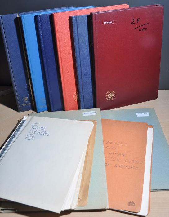 Welt - Batch in various stock books and album pages