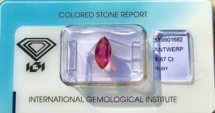 Red Ruby - 1.87 ct
