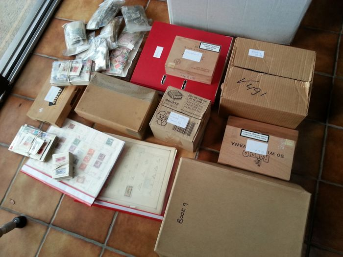 Welt 1875/1995 - In boxes, folders, bags, ring binding in a moving box