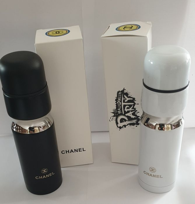 Chanel  - THERMOS collection 1 black 1 white Halloween Chanel (2) - Modern - Steel (stainless)