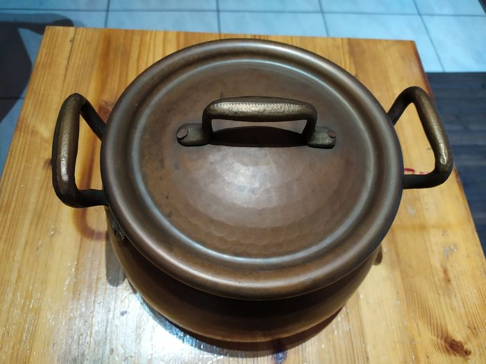 red copper pot with lid (1) - Copper
