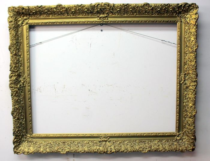 Gilt antique wooden picture frame - Baroque style - Layered wood, plaster - Late 19th century