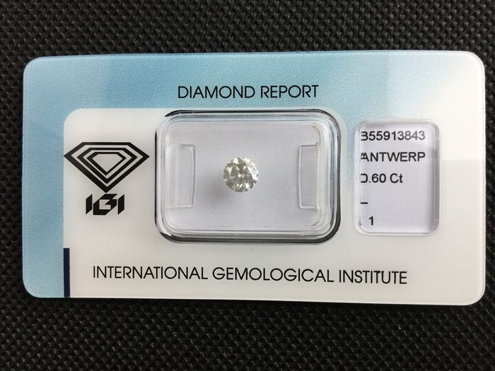 1 pcs Diamond - 0.60 ct - Brilliant - L - I1