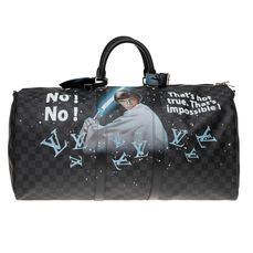 "Louis Vuitton - Brand New STARBAG ""Luke Skywalker Vs Dark Vador"" par PatBo sur Keepall 55 bandoulière graphite Reistas"