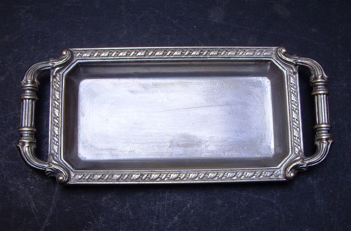 Antique Miniature Serving Tray - Nut Bowl  - Silverplate