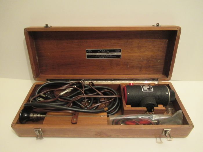American Cystoscope Makers. Inc. - Vintage Wooden Box Borescope - Wood