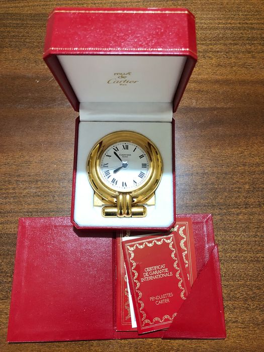 Alarm clock - Cartier - Gold plated - Late 20th century