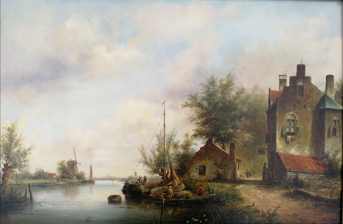 Lion Arie Feijen (1947) - Dutch River landscape