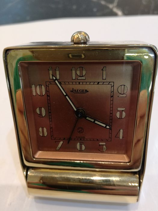 Alarm clock - Gold plated - Late 20th century