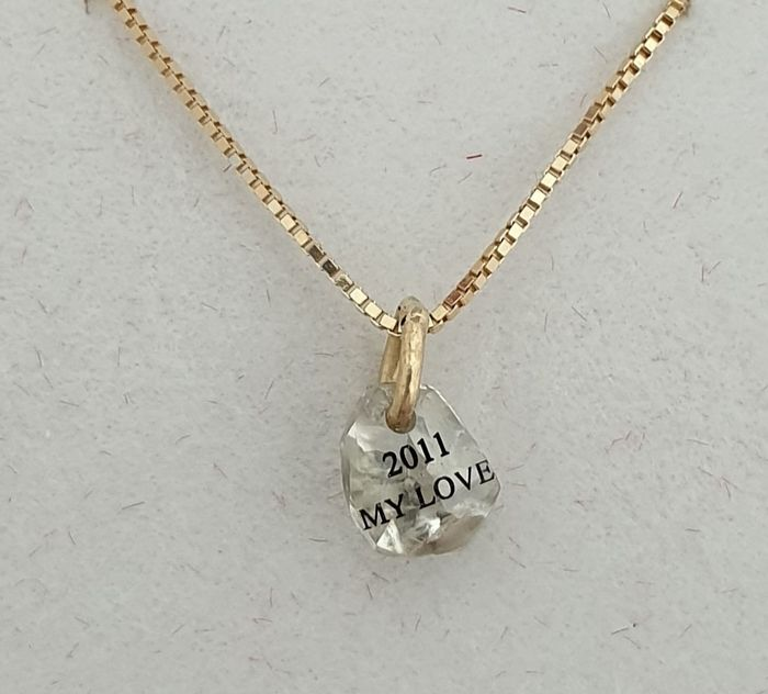 14 kt. Yellow gold - Necklace with pendant - 0.66 ct Diamond