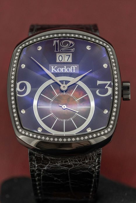 Korloff - Diamonds 0.43 Carat K28 Black Mother of Pearl Limited Edition Swiss Made  - SB339 - Unisex - BRAND NEW