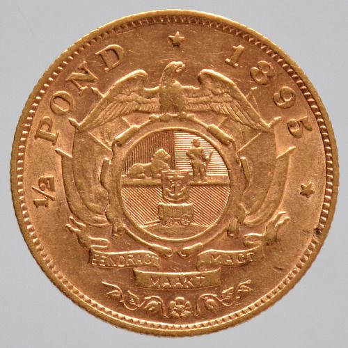 South Africa - ½ Pound 1895 Paul Kruger