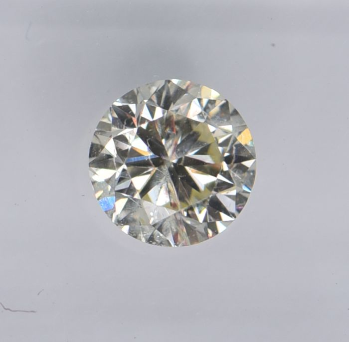 1 pcs Diamond - 0.56 ct - Round - M - SI1, No Reserve Price!