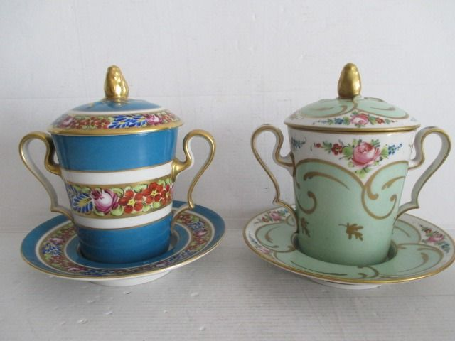 Limoges - Chocolate set (2) - Porcelain
