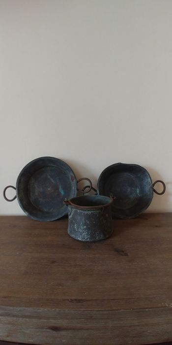 Set of old boilers - Pewter/Tin