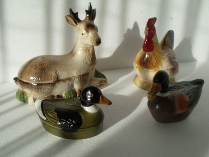 Michel Caugant - farmyard animals - terrines (4) - Ceramic