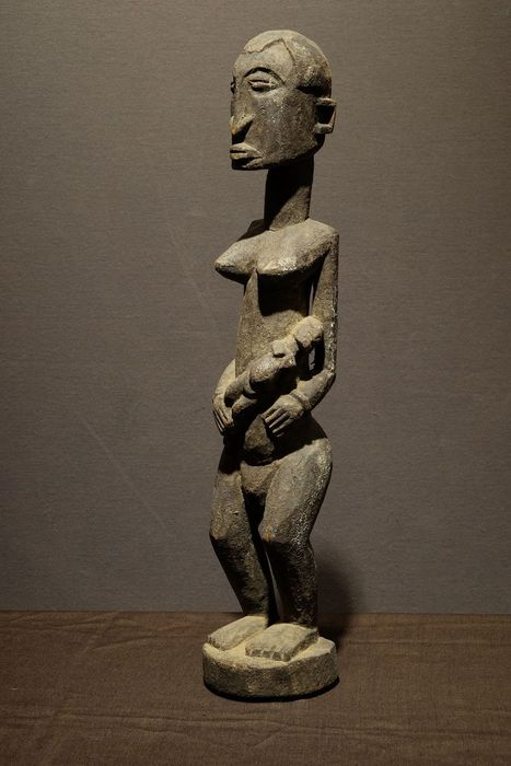 Maternity figure - Wood - Provenance Bob Germ - Dogon - Mali