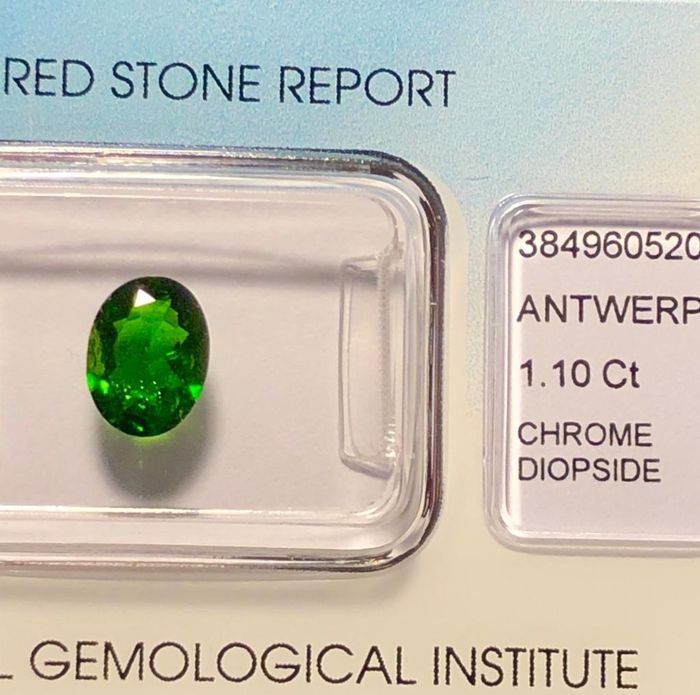 Groen Chrome Diopside - 1.10 ct