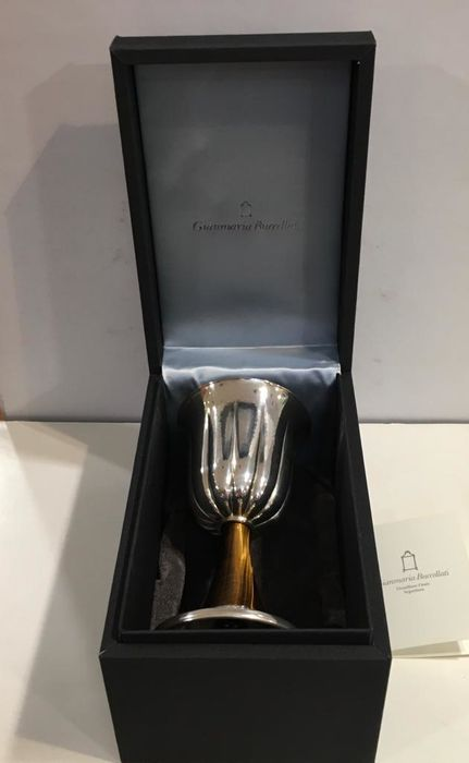 silver and hard stone goblets (2) - .925 silver, Silver - Gianmaria Buccellati - Italy - 2003